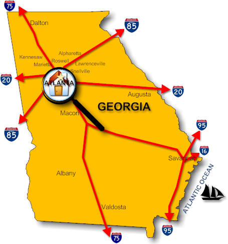 Georgia Real Estate Listed For Sale By Counties Real Estate - Georgia map counties